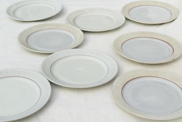 & Cleopatra Fris Holland pottery mod vintage ceramic salad plates set