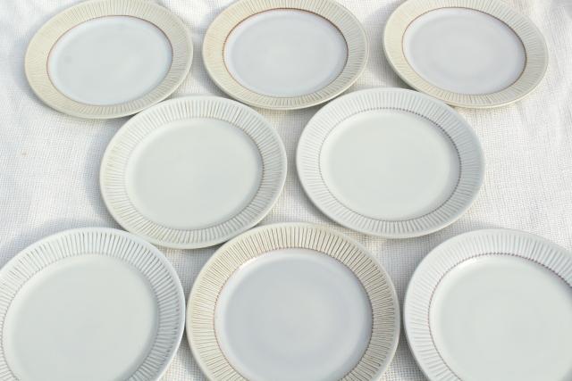 Cleopatra Fris Holland pottery mod vintage ceramic salad plates set & Fris Holland pottery mod vintage ceramic salad plates set