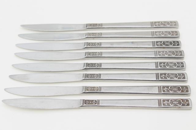 Cortina stainless steel flatware, 60s 70s vintage silverware IIC Japan Imperial International