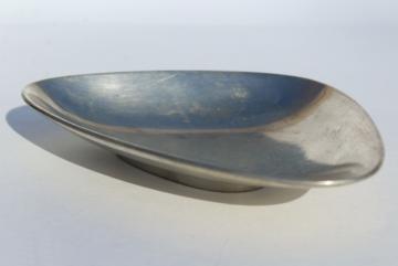 Danish modern vintage pewter dish, Danmark Just Andersen modernist minimalist design