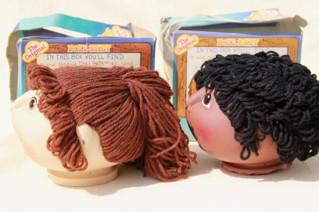 Doll Baby Heads Bodies Amp Accessories Lot 80s Vintage Cabbage Patch Kids Style Cloth Dolls