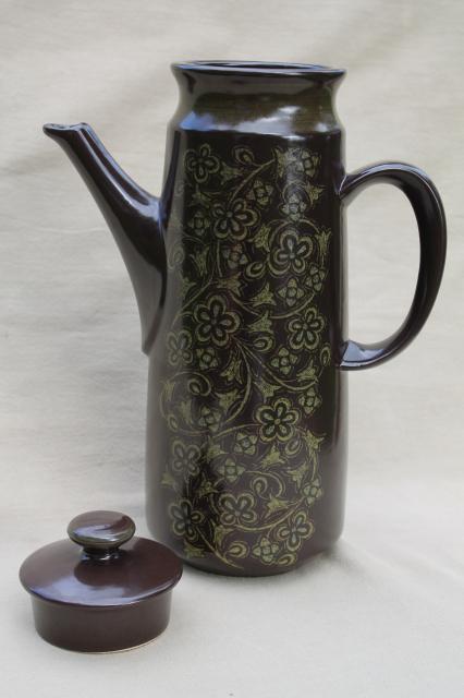 Franciscan Madeira Coffee Pot Mid Century Modern Vintage