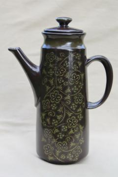 Franciscan Madeira coffee pot, mid-century modern vintage pottery coffeepot