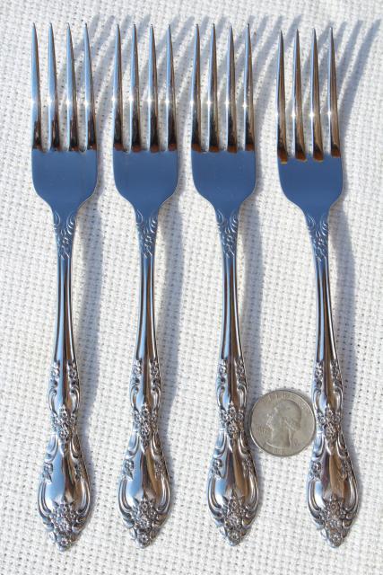 Galveston Oneida Unused Vintage Silverware Set 70s