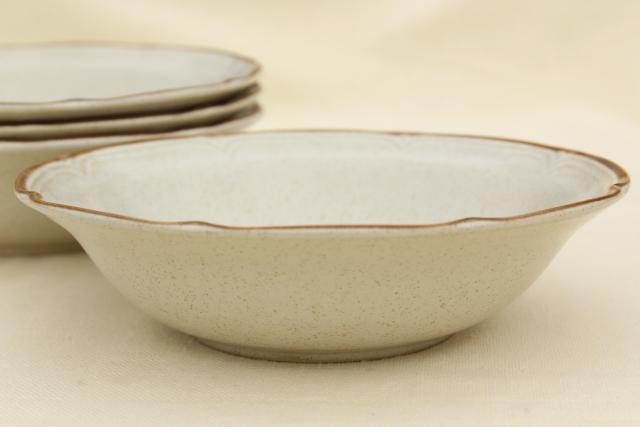 Hearthside Baroque stoneware soup or cereal bowls, vintage Japan dinnerware