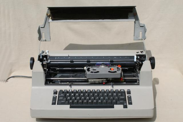 IBM Selectric II electric typewriter, 1970s industrial vintage office prop