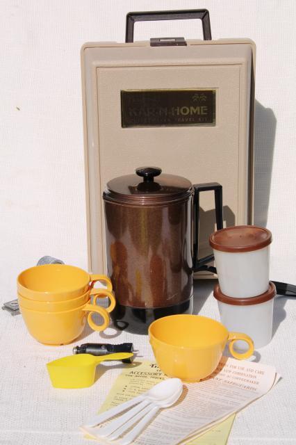 kar n home portable coffee maker vintage car   camping coffee pot set retro 60s 70s kitchen appliances  rh   1stopretroshop com