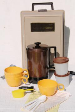 Kar n Home portable coffee maker, vintage car / camping coffee pot set