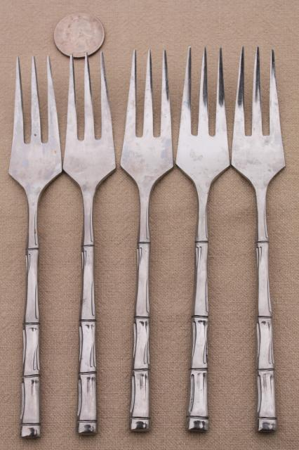 Lifetime Stainless Steel Flatware Bamboo Pattern Vintage