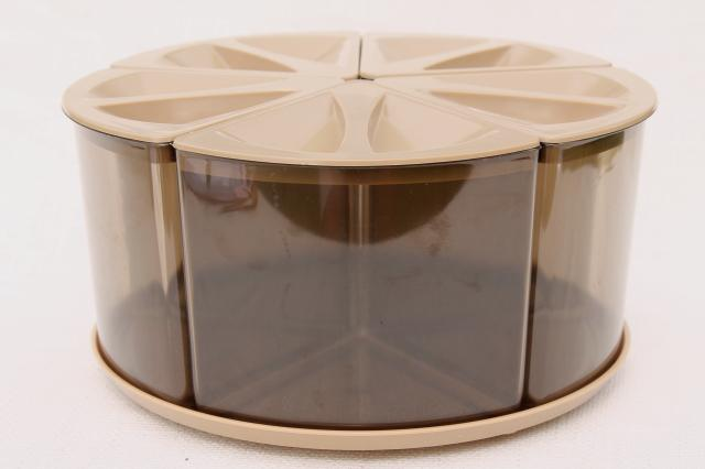Loma Plastic Turn A Bin 70s Vintage Plastic Canister Set Kitchen Lazy Susan