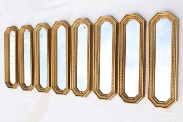 Famous MCM 50s 60s vintage gold framed mirror grouping, retro focal point  WP54
