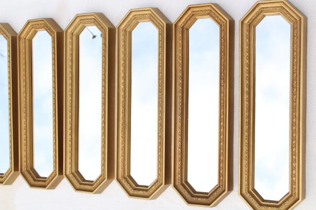 gold mirror wall decor.htm mcm 50s 60s vintage gold framed mirror grouping  retro focal point  mcm 50s 60s vintage gold framed mirror