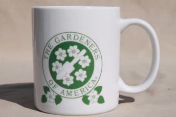 Men's Garden Club mug, Gardeners of America members ceramic coffee cup