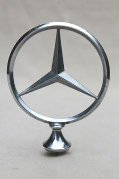 Mercedes emblem hood ornament, vintage part saved off of an old car