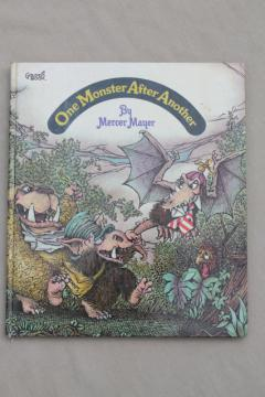 Mercer Mayer - One Monster After Another, 70s vintage big Golden book