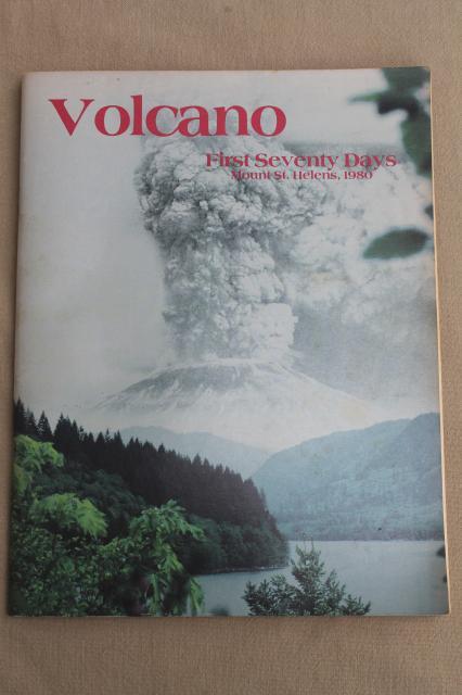Mt St Helens Photo Book 1980 Volcano Eruption Mountain