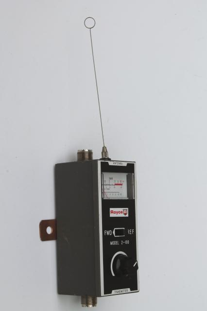 Royce 2-100 SWR field strength meter, vintage shortwave  radio equipment