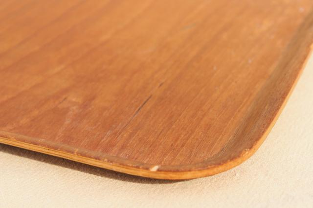 Scandinavian modern vintage Sweden mod bent formed plywood serving tray