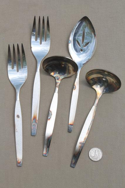 silver sands oneida community plate silverware flatware serving pieces set