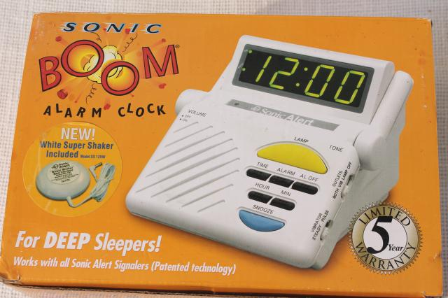 Sonic Boom alarm clock super loud digital alarm clock w/ bed vibrator