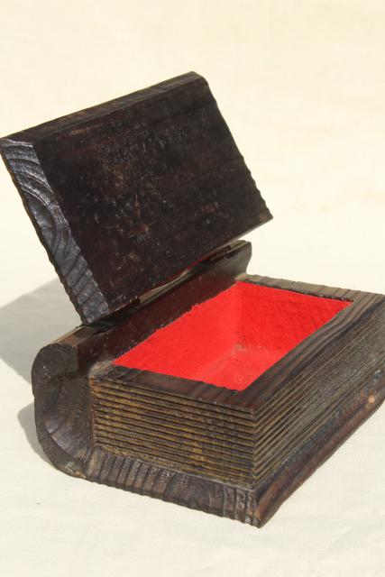 Spanish Carved Wood Boxes Medieval Renaissance Gothic