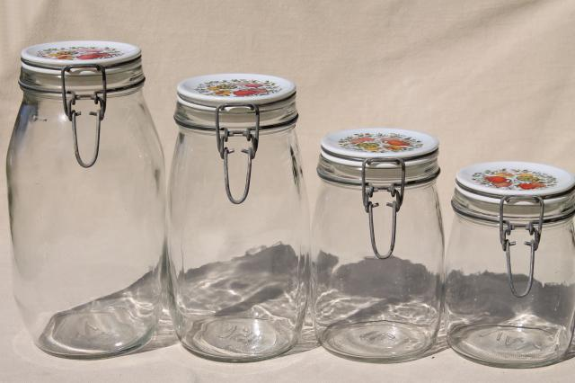 kitchen canisters and jars spice of kitchen seasonings vintage glass jars 19295
