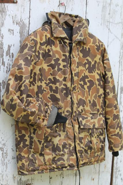Stearns Floatation Jacket Brown Camo Camouflage Duck Hunting Fishing Float Coat Mens Large