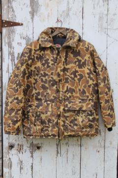 Stearns floatation jacket, brown camo camouflage duck hunting fishing float coat, mens large