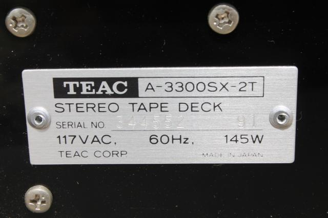 TEAC A-3300SX 2T,  retro reel to reel tape deck w/ no reels early 80s