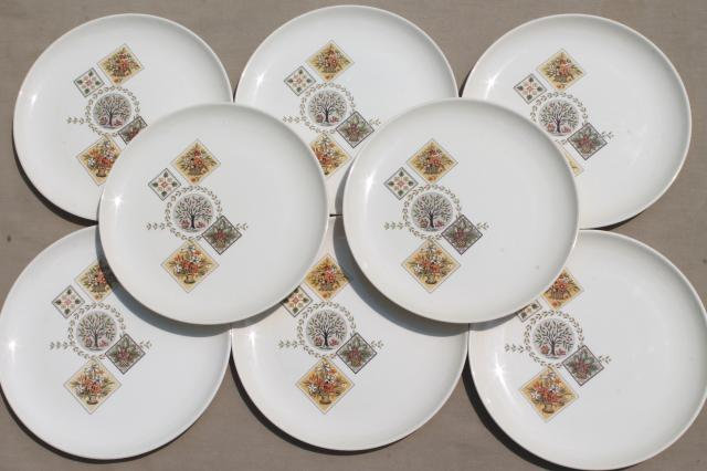 Taylor Smith u0026 Taylor Brocatelle 60s vintage french country style pottery dinner plates & vintage china dishes and dinnerware