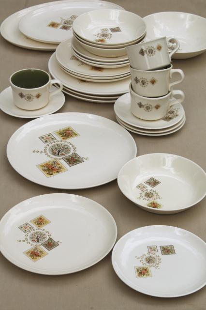 Taylor Smith Amp Taylor Brocatelle 60s Vintage French Country Style Pottery Dinnerware Set