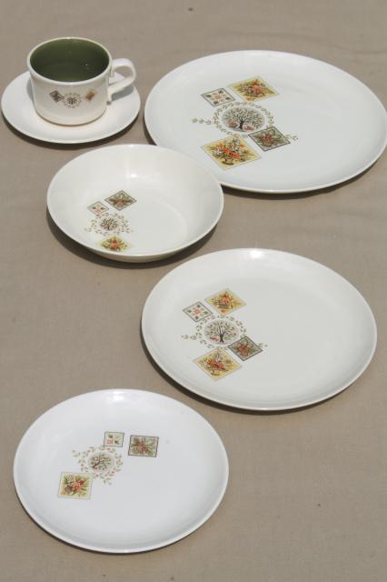 Taylor Smith u0026 Taylor Brocatelle 60s vintage french country style pottery dinnerware set & Taylor Smith u0026 Taylor Brocatelle 60s vintage french country style ...
