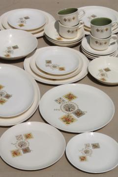 Taylor Smith \u0026 Taylor Brocatelle 60s vintage french country style pottery dinnerware set & vintage china dishes and dinnerware