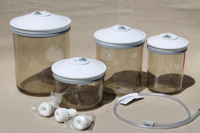 Tilia Foodsaver Canisters Smoke Plastic Vacuum Seal Food Saver Storage Jars