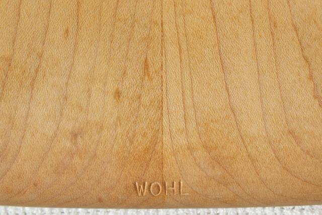 Wohl wood board, handcrafted hard maple cutting board, bread cheese tray