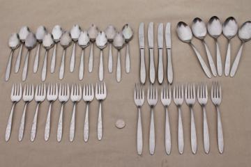 Wood Dale stainless steel flatware, estate lot vintage silverware Wooddale