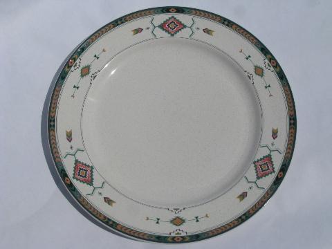 & Adirondack pattern Mikasa / Studio Nova pottery dinnerware dishes lot