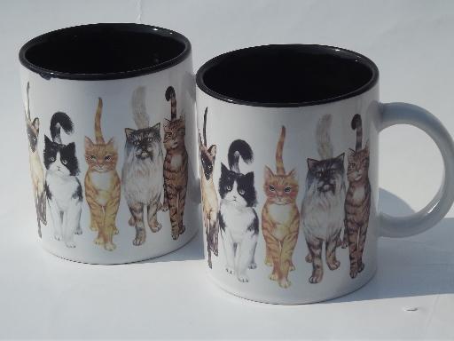 All Cats Coffee Cups Mugs Lot Kitties Amp Kittens Morris
