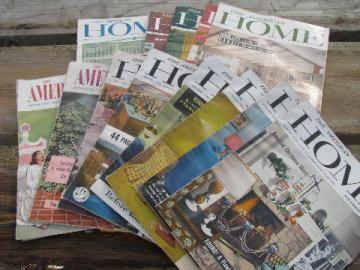 American Home magazines lot vintage 1956-57 mid-century modern decor