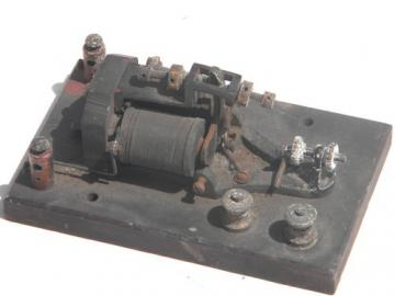 Antique early radio vintage telegraph sounder key for morse code