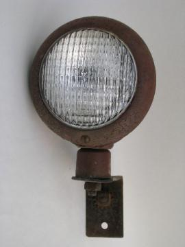 Antique farm tractor utility/work light old red paint