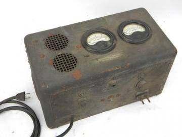 Antique Kocour early electric DC power supply or battery charger