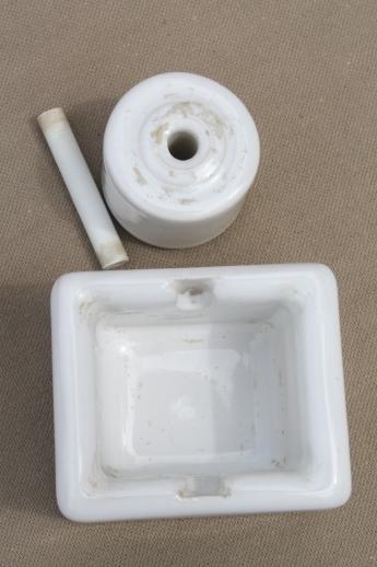 Antique Porcelain Rolling Wheel Sengbusch Desk Stamp