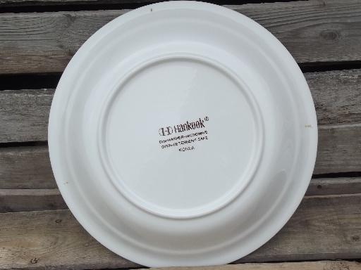 Apple Pie Vintage 70s 80s Ceramic Pie Plate Pan W