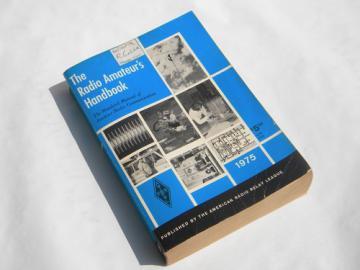 ARRL The Radio Amateur's Handbook 1975 vintage shortwave radio diagrams+