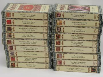 Art Masterpieces of the Hemitage, complete set 18 VHS video tapes
