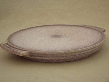 Arts & Crafts vintage matte glaze German art pottery tray, Germany mark