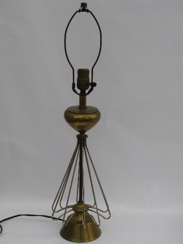 atomic era vintage wire art sculpture table lamp mid century modern rh 1stopretroshop com Lamp Post Wiring -Diagram Lamp Cord Switch Wiring