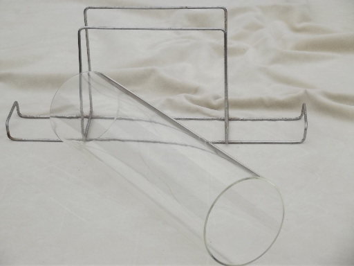Bake a Round retro Corning / Pyrex glass tube  bread pan w/ wire rack