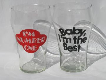 Big 70s retro beer glasses - Baby, I'm The Best - I'm #1